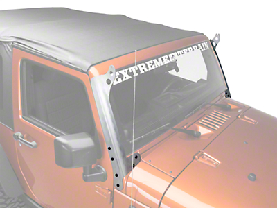 Hyline Offroad 50 in. LED Light Bar Mounting Brackets - Aluminum (07-17 Wrangler JK)