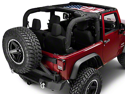 Rugged Ridge Hardtop Flag Sun Shade - Front (07-17 Wrangler JK)