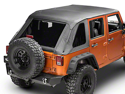 Barricade Frameless 2-in-1 Soft Top - Black Diamond (07-17 Wrangler JK 4 Door)