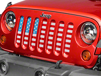 Dirty Acres Grille Insert - Old Glory (07-17 Wrangler JK)