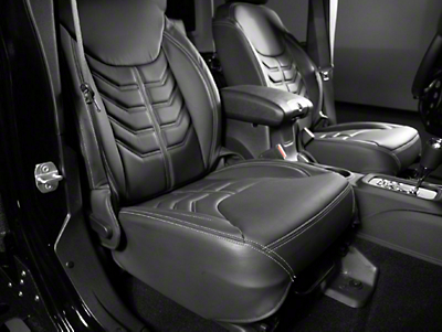 Star Fabricating 458 Style Leather Interior Kit - Charcoal w/ Silver Stitching (13-16 JK)