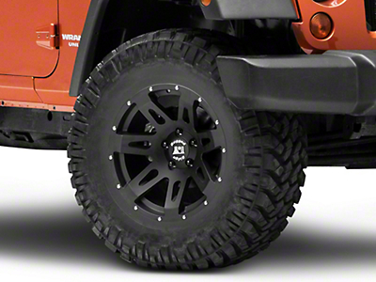 Rugged Ridge XHD Wheel, Black Satin, 17x9 (07-17 Wrangler JK)