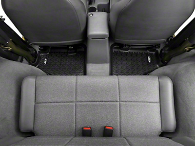 Rugged Ridge Rear Floor Liner - Rear Pair, Black (97-06 Wrangler TJ)
