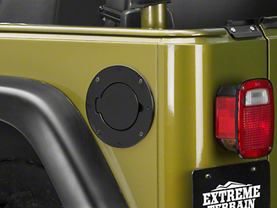 Rugged Ridge Billet Style Gas Cover, Black (97-06 Wrangler TJ)
