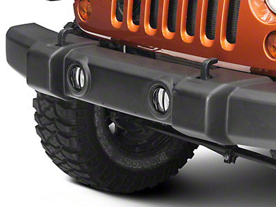 Rugged Ridge Black Euro Guard Fog Light Covers - Pair (07-17 Wrangler JK)