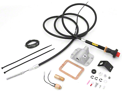Alloy USA Differential Cable Lock Kit for 3 In.- 6 in. Lift w/ Front D30 (87-95 Wrangler YJ)