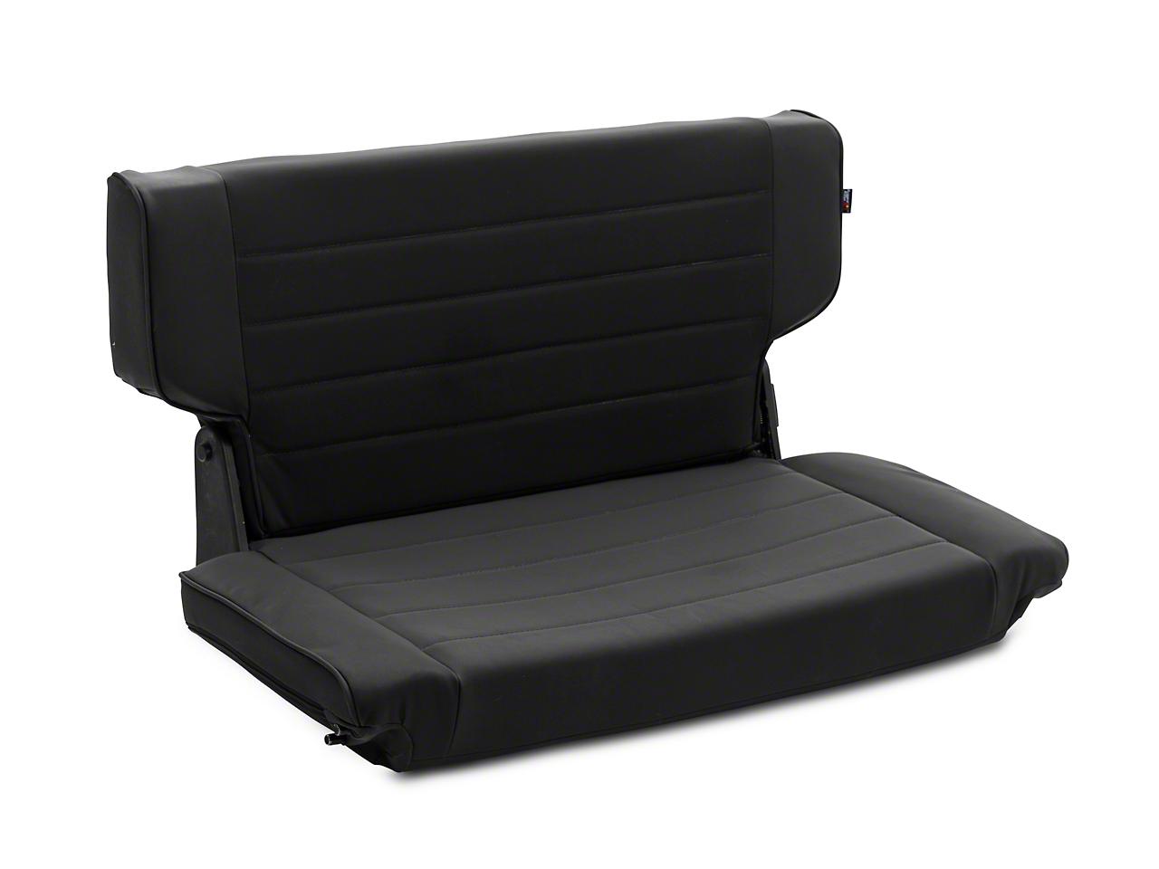 Rugged Ridge Fold & Tumble Rear Seat - Black Denim (97-02 Wrangler TJ)