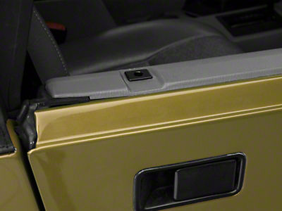 Rugged Ridge Half Door Insert - Black (87-06 Wrangler YJ & TJ)