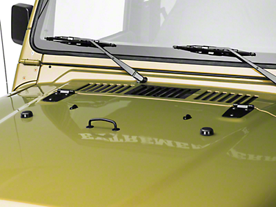Rugged Ridge Hood Kit, Black Powder Coat (97-06 Wrangler TJ)