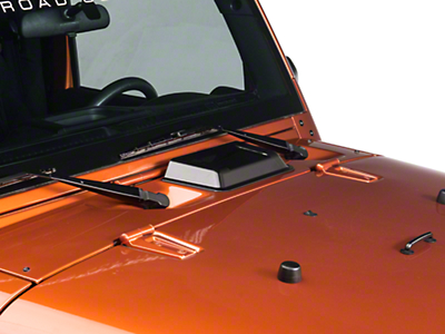 Rugged Ridge Hood Vent Scoop, Smoked (98-17 Wrangler TJ & JK)