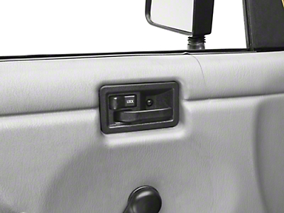 Omix-ADA Left Side Interior Door Handle, Full Or Half Door (87-06 Wrangler YJ & TJ)