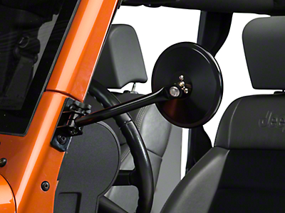 Rugged Ridge Quick Release Mirror Relocation Kit, Includes Mirror (97-17 Wrangler TJ & JK)