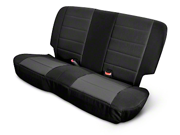 Rugged Ridge Neoprene Rear Seat Cover - Black (03-06 Wrangler TJ)