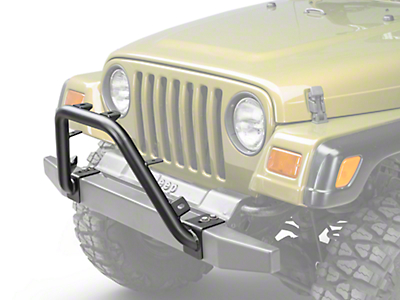 Olympic 4x4 Bumper Mounted Light Bar - Textured Black (97-06 Wrangler TJ)