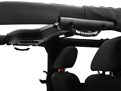 Rugged Ridge Rear Side Grab Handles - Black (07-17 Wrangler JK 4 Door)