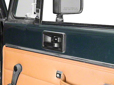 Omix-ADA Right Side Interior Door Handle, Full Or Half Door (87-95 Wrangler YJ)