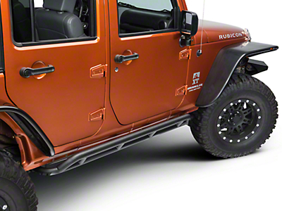 Rugged Ridge RRC Black Rocker Guards (07-17 Wrangler JK 4 Door)