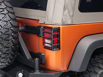 Rugged Ridge Euro Tail Light Guards - Black (07-17 Wrangler JK)