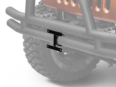 Rugged Ridge License Plate Bracket For 3 in. Tube Bumpers (87-17 Wrangler YJ, TJ & JK)