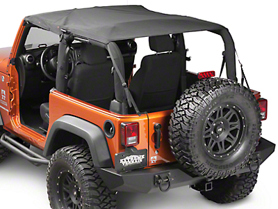 Rugged Ridge Mesh Summer Island Topper, Black (07-09 Wrangler JK 2 Door)