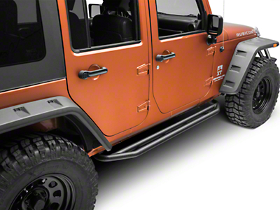 Rugged Ridge Textured Black Side Armor Nerf Bars (07-17 Wrangler JK 4 Door)