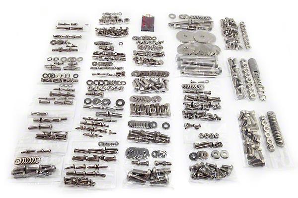 Totally Stainless Fastener Kit, Stainless Steel (87-95 Wrangler YJ w/ Soft Top)