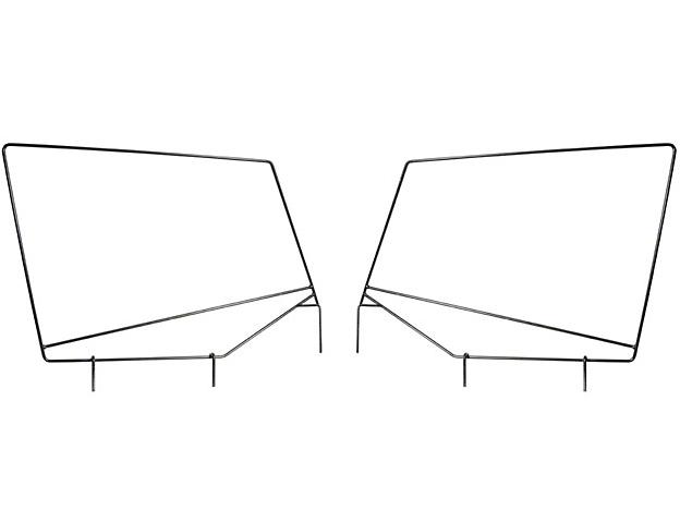 Rugged Ridge Steel Upper Door Skin Frames (87-95 Wrangler YJ w/ Soft Top)