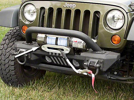 Rugged Ridge XHD Aluminum Front Bumper Winch Plate (07-17 Wrangler JK)