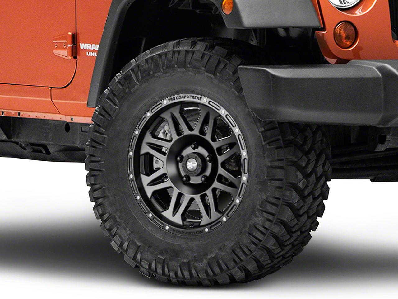 Pro Comp Series 7005 Wheel, Flat Black, 5x5 - 17x8 (07-17 Wrangler JK)