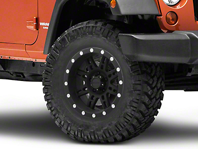 Pro Comp Series 7031 Wheel, 17x9, Flat Black, 5x5 (07-17 Wrangler JK)