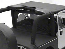 Smittybilt Jeep Wrangler Outback Wind Breaker Black