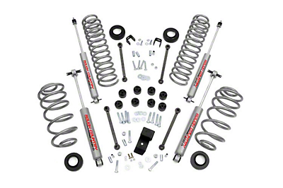 Rough Country 3.25 in. Suspension Lift Kit w/ Premium N2.0 Shocks (97-02 Wrangler TJ w/ 4.0L)