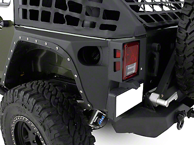 Smittybilt XRC Rear Corner Guards - Black Textured (07-17 Wrangler JK 4 Door)