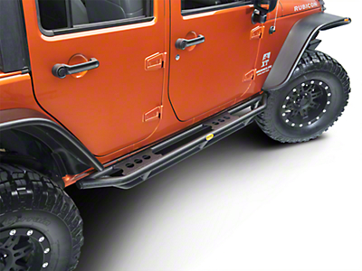 Smittybilt SRC Side Armor - Black Textured (07-17 Wrangler JK 4 Door)