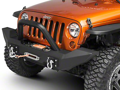 Off Camber Fabrications by MBRP Front Light Bar/Grille Guard System, Black Coated (07-17 Wrangler JK)