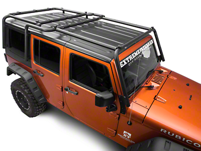 Off Camber Fabrications by MBRP Front Roof Rack Extension, Black Coated (07-17 Wrangler JK 4 Door)