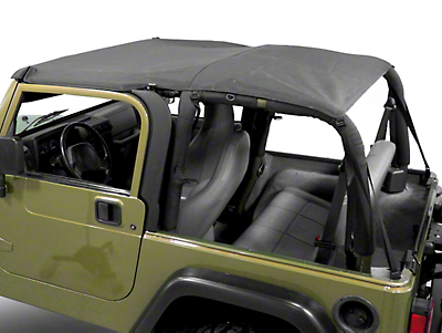 Smittybilt Extended Brief Top, Black Diamond (97-06 Wrangler TJ)