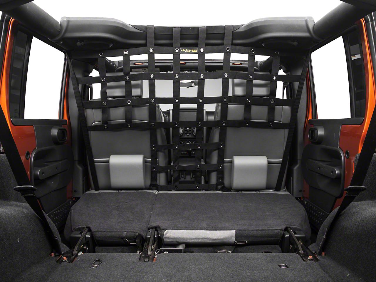 Dirty Dog 4x4 Pet Divider - Mounts Behind Front Seats - Black (07-17 Wrangler JK)
