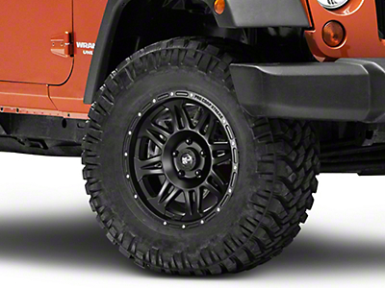 Pro Comp Series 7005 Wheel, Flat Black, 5x5 - 17x9 (07-17 Wrangler JK)