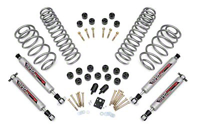 Rough Country 3.75 in. Lift Combo Kit w/ Shocks (97-06 Wrangler TJ w/6 Cyl)