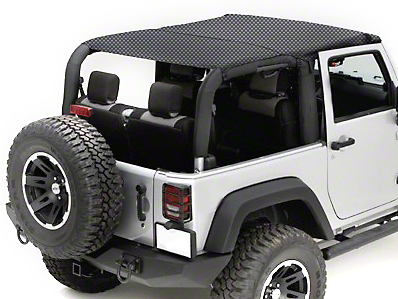 Rugged Ridge Mesh Summer Island Topper, Black (10-17 Wrangler JK 2 Door)