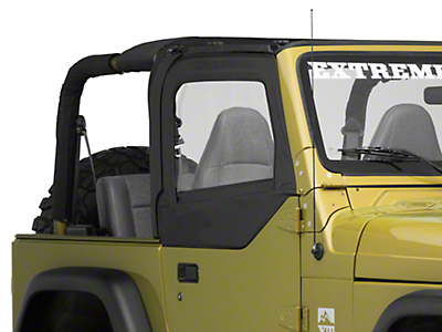 Bestop Fabric Replacement Upper Door Skins, Black Diamond (97-06 Wrangler TJ w/ Half Doors)