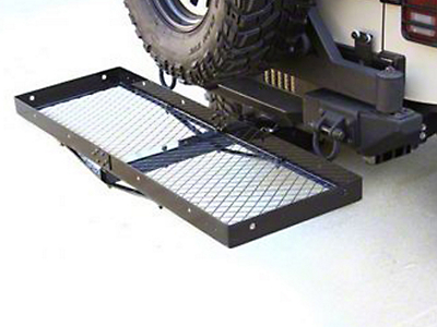 Rugged Ridge Receiver Hitch With Cargo Rack (07-17 Wrangler JK)