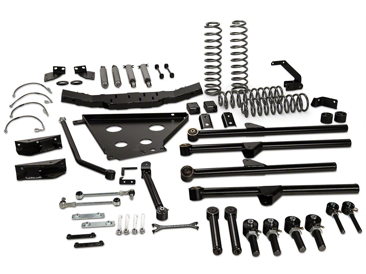 Rough Country 4 in. X-Series Long Arm Suspension Lift Kit w/ Shocks (07-11 Wrangler JK 4 Door)