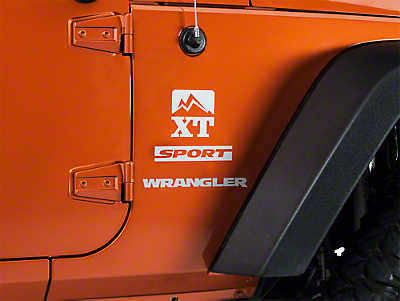 XT Graphics Side Decal - Silver (87-17 Wrangler YJ, TJ & JK)