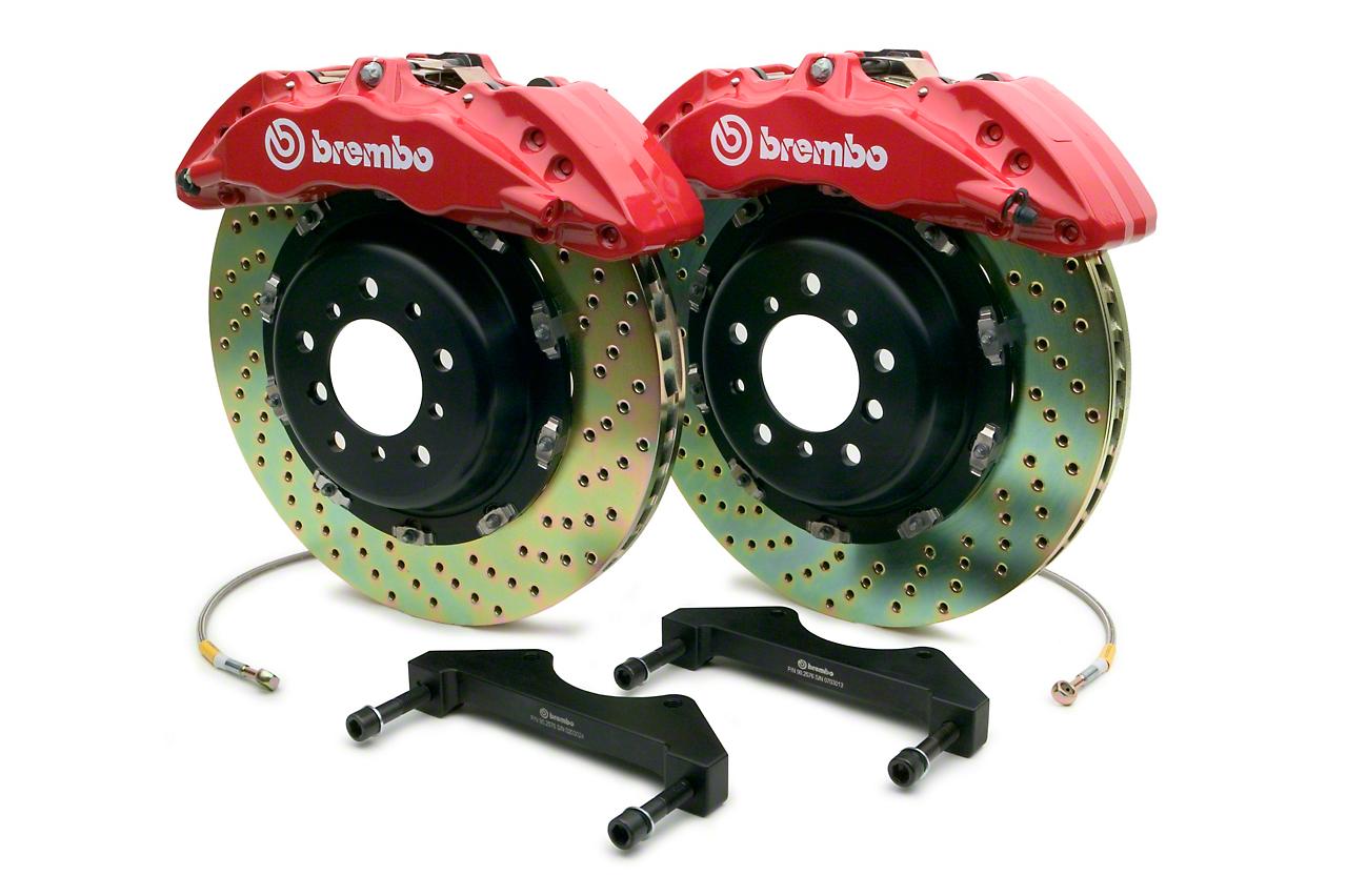 Brembo GT 6-Piston Front Brake Kit - 15 in. Drilled Rotors - Red (10-14 Raptor)