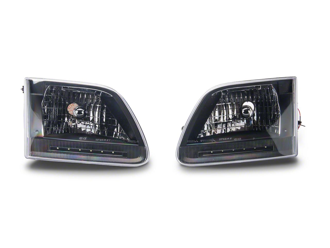 Axial Black LED Crystal Headlights (97-03 All)