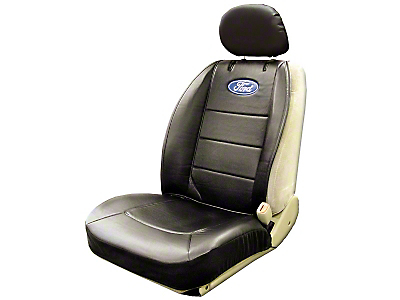 Ford Oval Logo Embroidered Sideless Seat Cover w/ Head Rest (97-17 All)