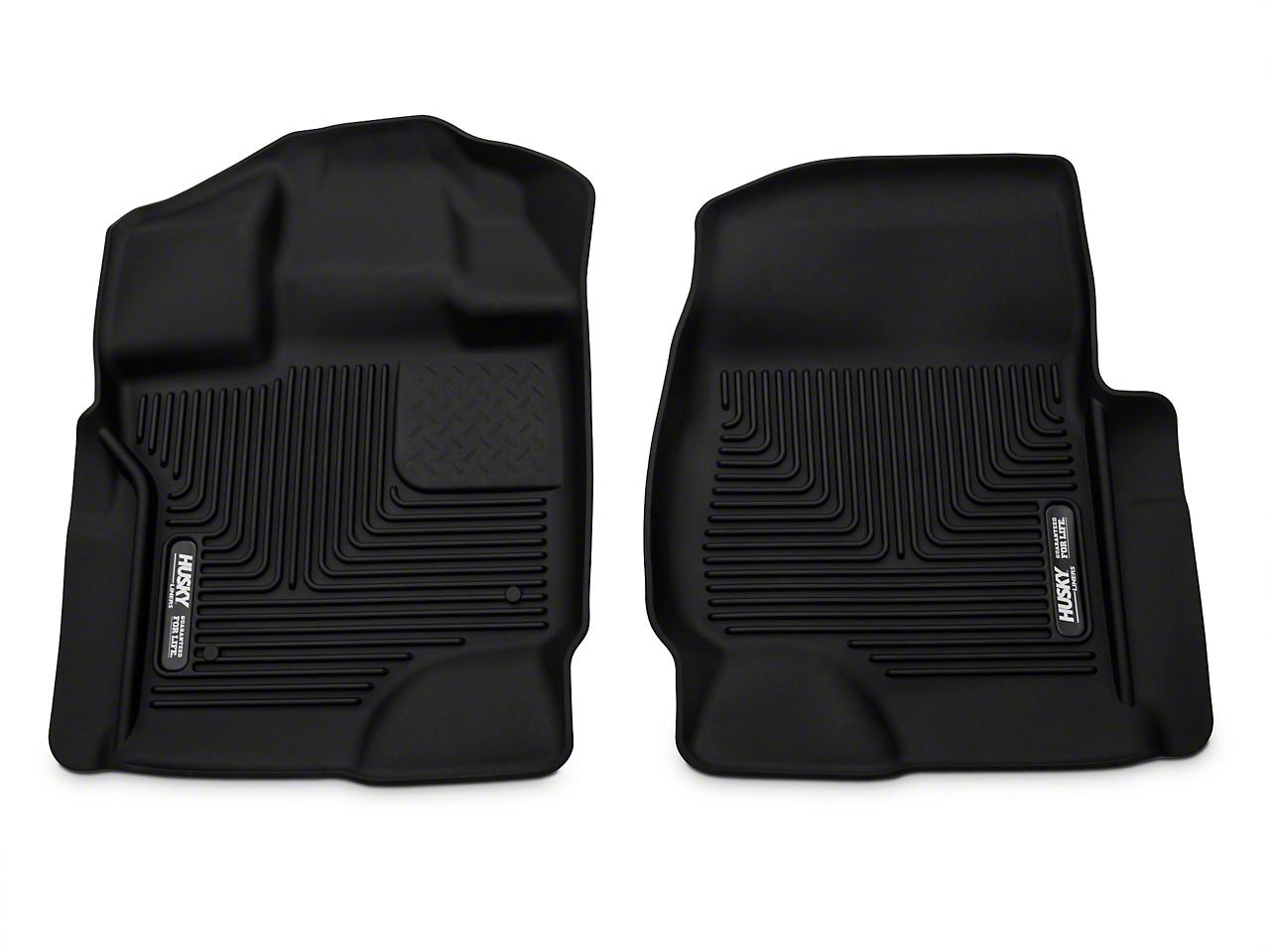 Husky X-Act Contour Front Floor Liners - Black (15-17 SuperCab, SuperCrew)