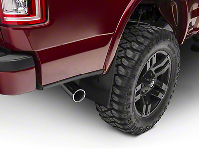 Weathertech Rear No Drill MudFlaps - Black (15-17 All, Excluding Raptor)